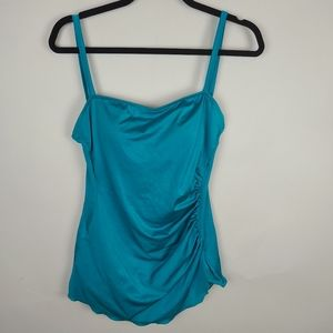 VTG one piece teal swimsuit size 12